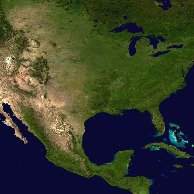 Map of North and Central America